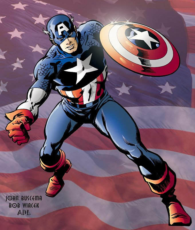 Captain America, comic books